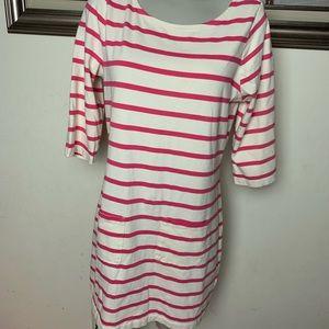 Boden pink striped dress shirt sleeve